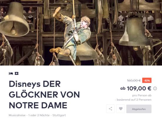 Musical Glöckner von Notre Dame Deal