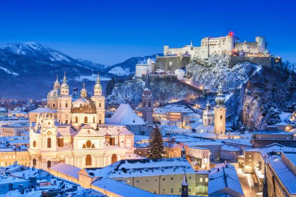 Salzburg Winter Nacht