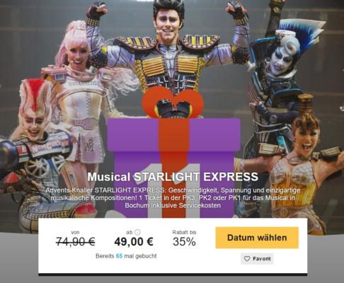 Tickets Starlight Express Bochum