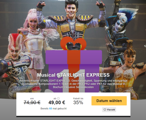 Tickets Starlight Express Bochum