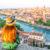 Verona Frau genießt Aussicht