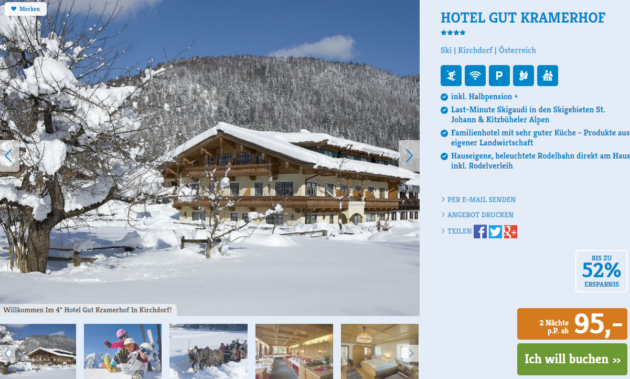 3 Tage Winterurlaub in Österreich