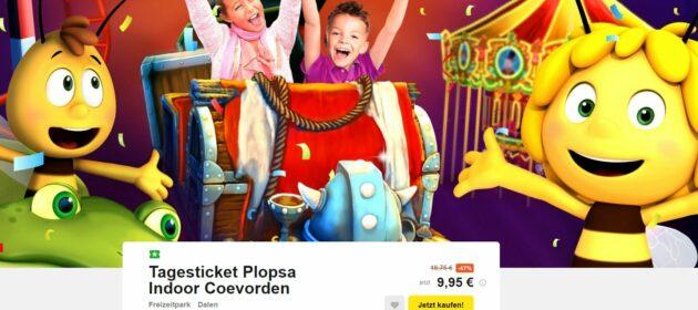 Gutschein Freizeitpark Plopsa Indoor Coevorden
