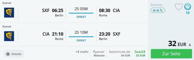 Flug Berlin Rom