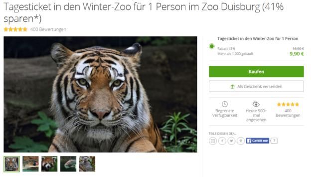Gutschein Zoo Duisburg