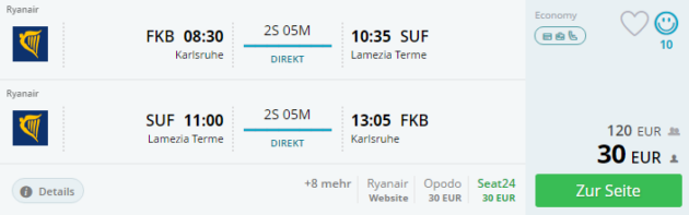 Karlsruhe nach Lamezia