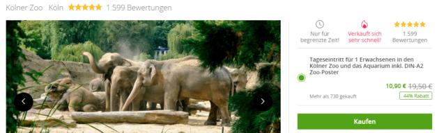 Kölner Zoo Eintritt