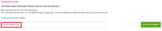 Gutschein von lastminute.de