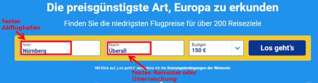 Ryanair Preissuche 3