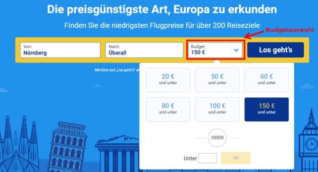 Ryanair Preissuche 4