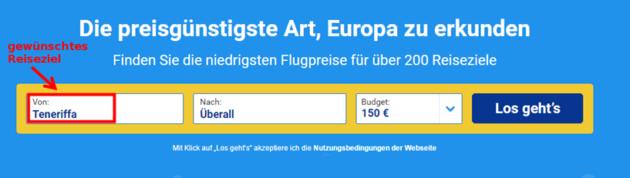 Ryanair Preissuche 6