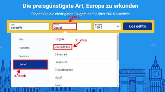 Ryanair Preissuche 7