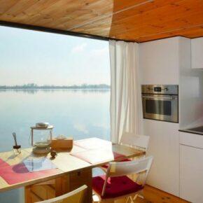 Schwimmende Häuser Küche