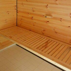 Schwimmende Häuser Sauna