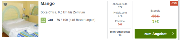 15 Tage Dom Rep Angebot