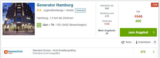 2 Tage Generator Hostel Hamburg