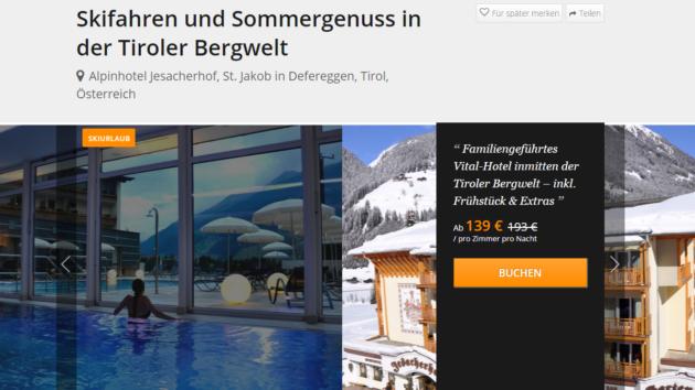 3 Tage Wellness in Tirol
