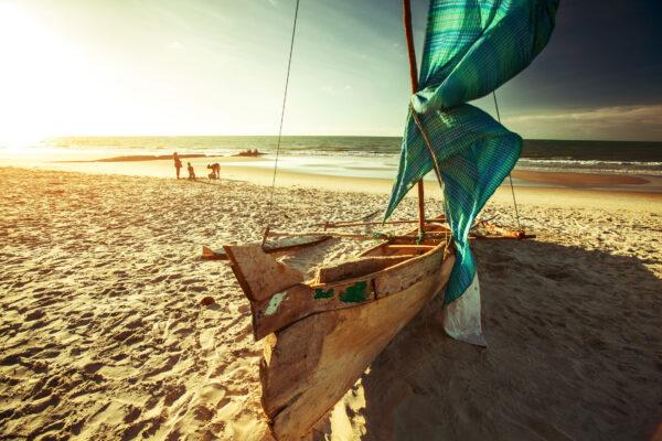 Afrika Mosambik Strand Boot