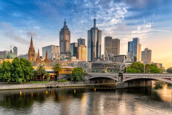 Australien Melbourne Skyline Tag