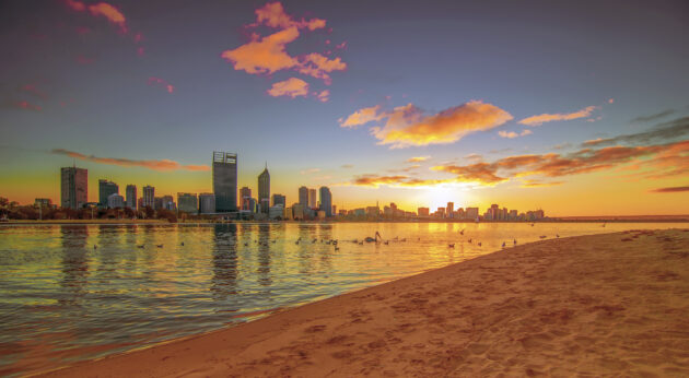 Australien Perth Sonnenuntergang Strand