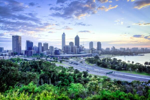 Australien Perth Stadt City Skyline