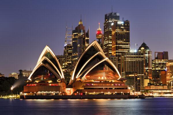Australien Sydney Meer Skyline Nacht