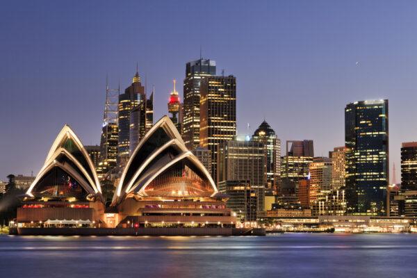 Australien Sydney Nacht Skyline Lichter