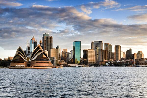 Australien Sydney Skyline Wolken