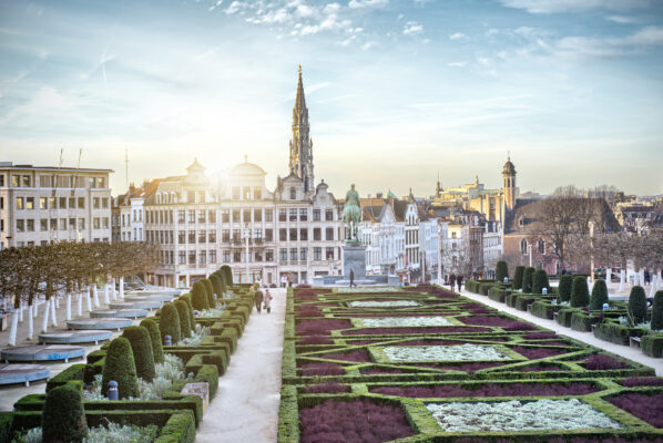 Belgien Brüssel Garten Gebäude