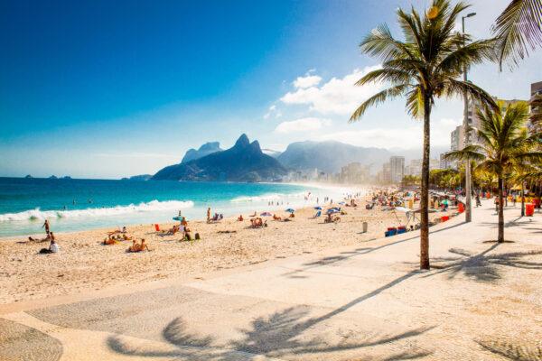 Brasilien Strand Palmen Meer
