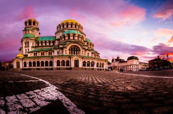 Bulgarien Schloss Abendsonne Sonnenuntergang