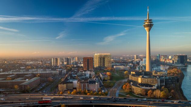 Düsseldorf von oben Fernsehturm