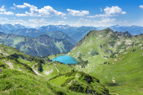 Deutschland Allgäu Berge See Landschaft