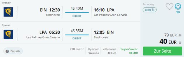 Eindhoven nach Gran Canaria