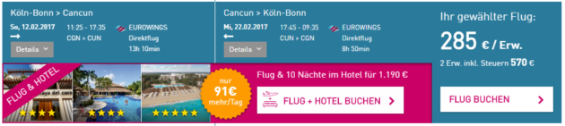 Flüge nach Cancun Deal