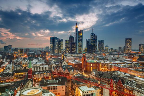 Frankfurt Nacht Skyline