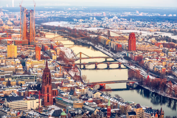 Frankfurt von oben Main