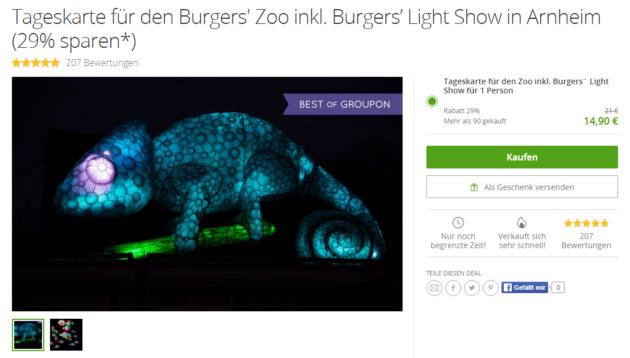 Gutschein Burgers Zoo Arnheim