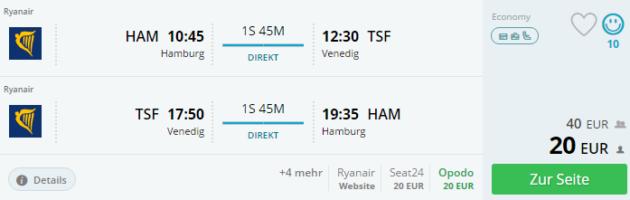 Hamburg nach Venedig
