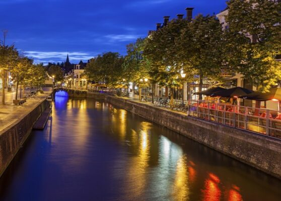 Canals of Leeuwarden Netherlands