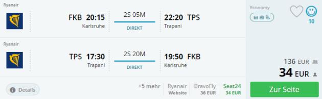 Karlsruhe nach Trapani