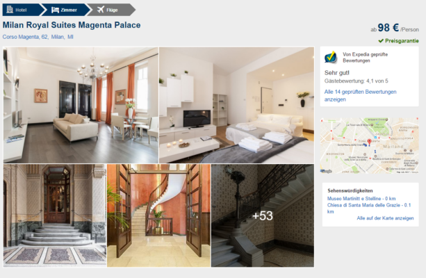 Mailand Royal Suites Deal