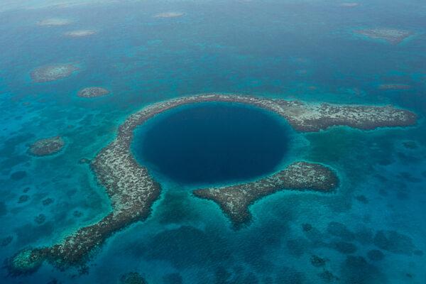 Belize Insel Loch