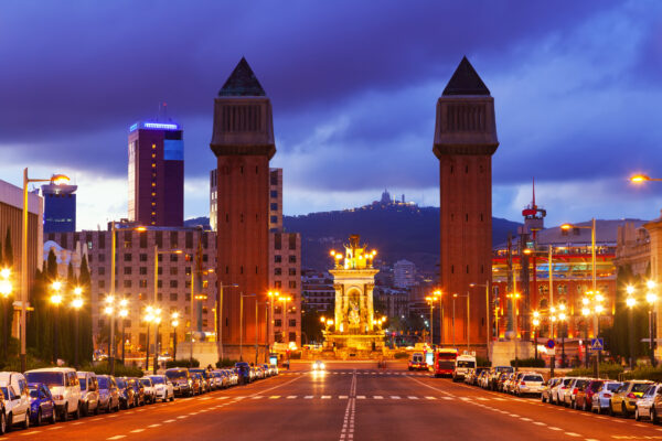 Barcelona Spanien Berg Tor