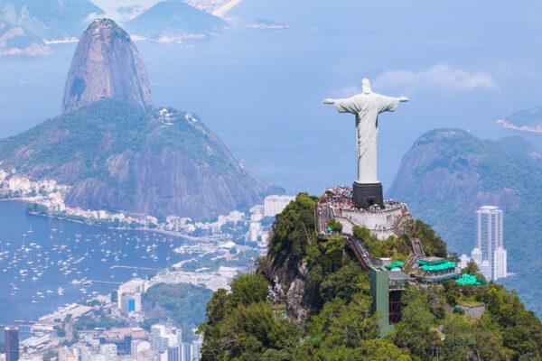 Brasilien Rio de Janeiro mit Christ Redeemer