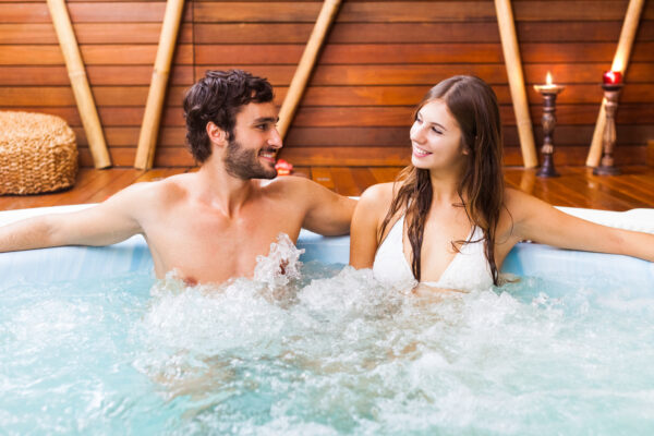 Wellness Paar Whirlpool