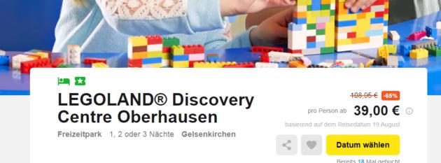Legoland Schnäppchen