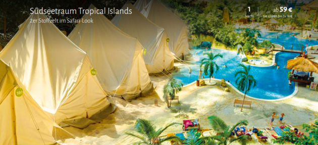 2 Tage Tropical Islands Deal