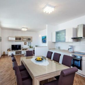 Ferienhaus Adriaküste Küche Wohnzimmer