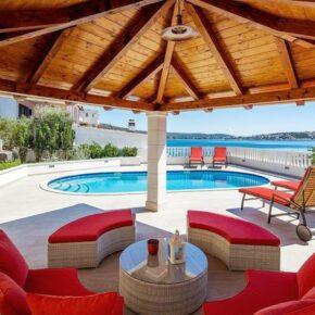 Ferienhaus Adriaküste Terrasse